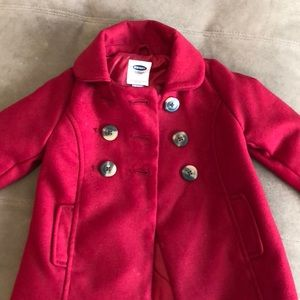 Old navy red peacoat